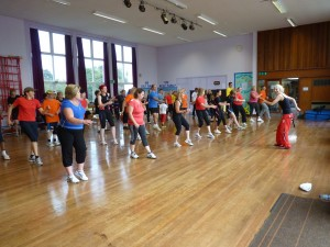 Picture of a ZUMBA Class held by Bernice